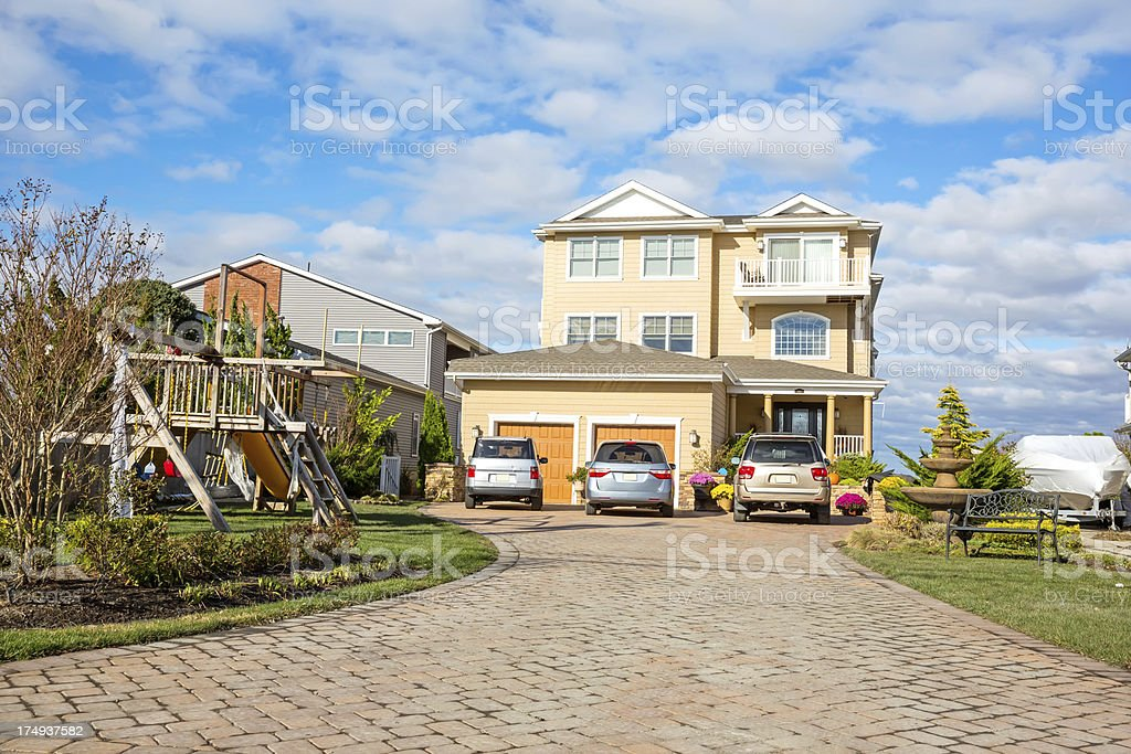Architecture:Family Home Exterior royalty-free stock photo