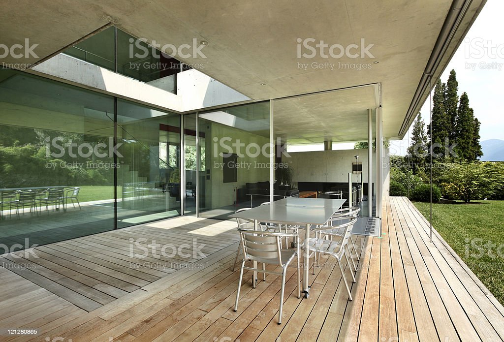 Architecture,modern house outdoors royalty-free stock photo