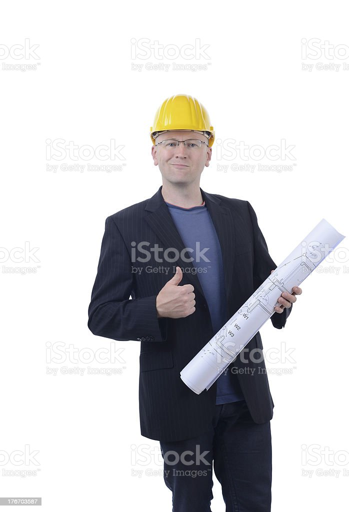 architetct thumbs up royalty-free stock photo