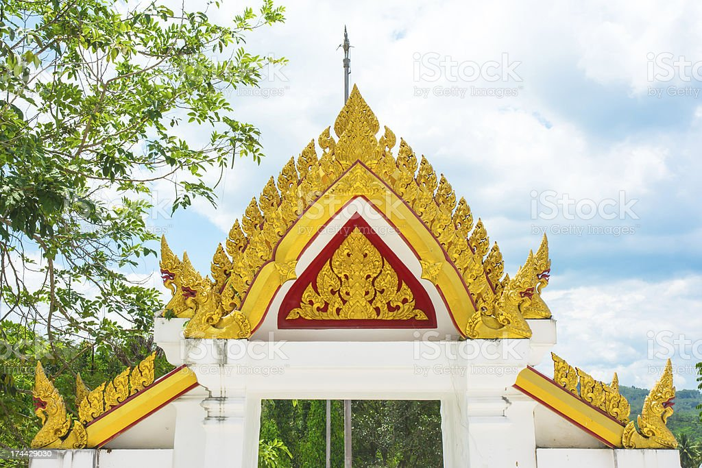 architrave of asia temple thailand royalty-free stock photo
