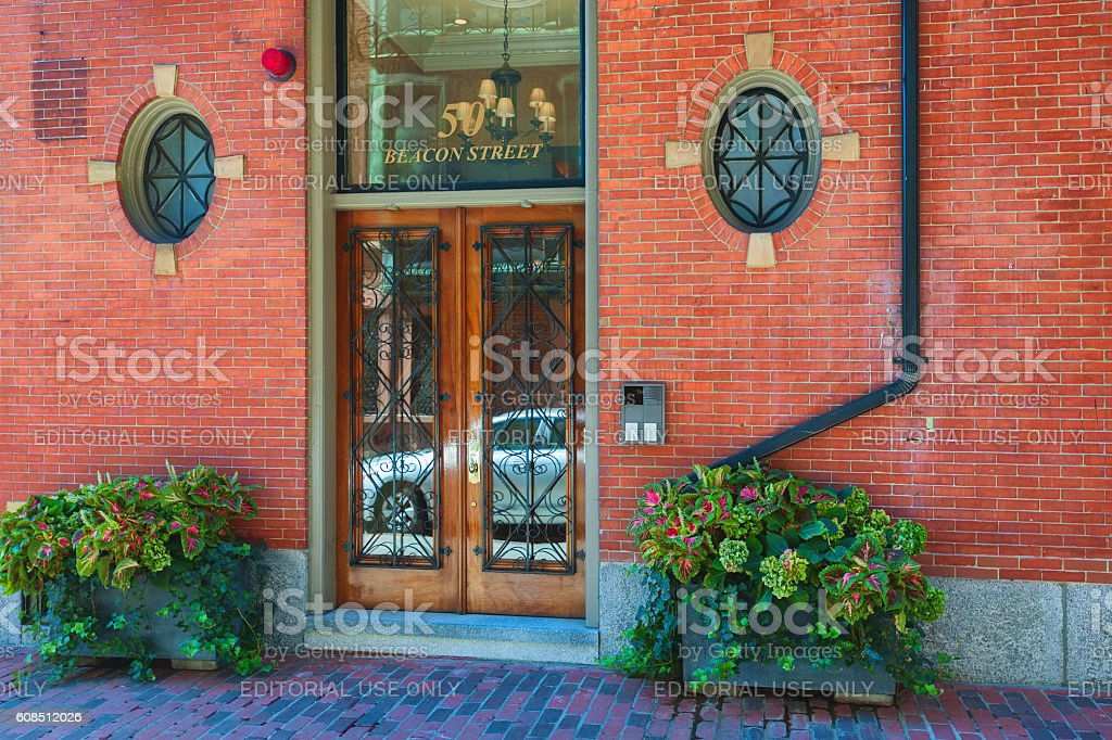 Architure Federal Style Beacon Hill Boston Massachusetts stock photo