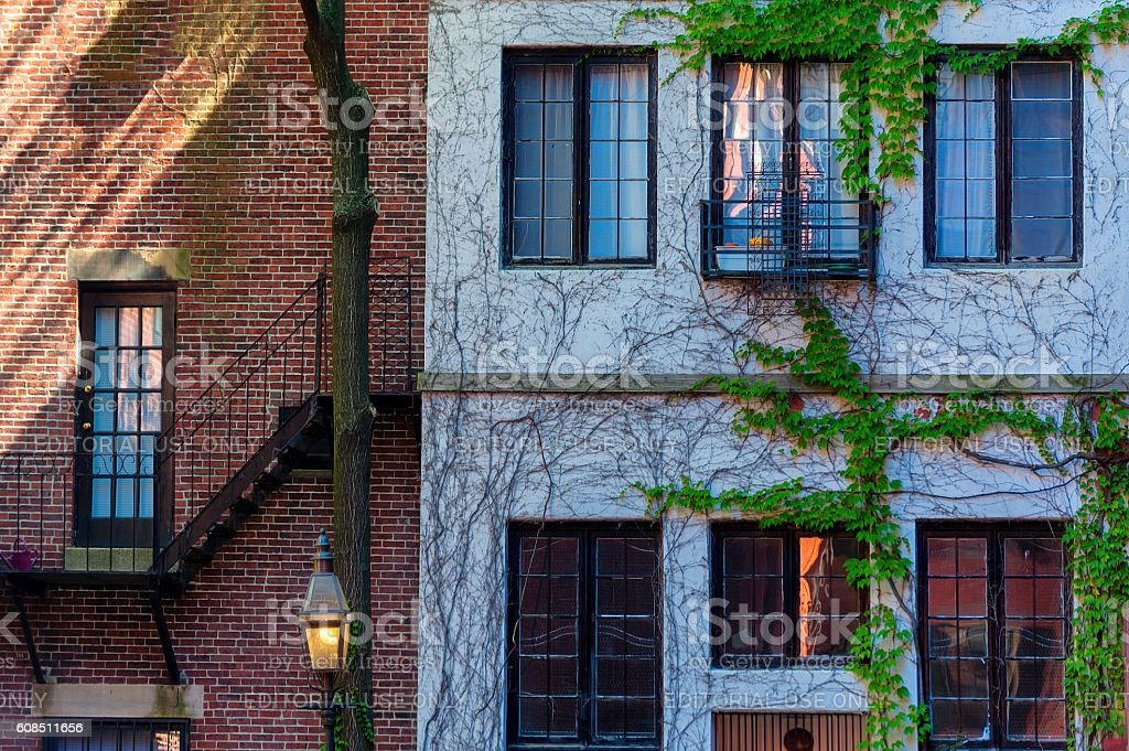 Architure Federal Style Beacon Hill stock photo