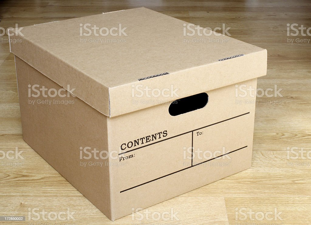 Archive Box royalty-free stock photo