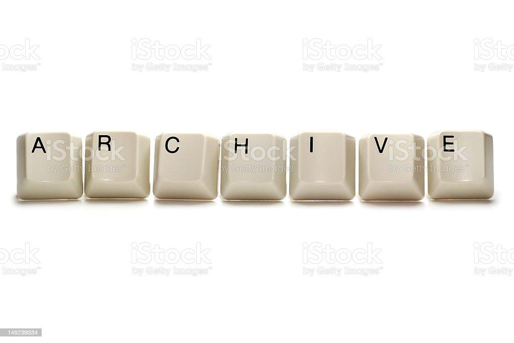 archive - computer keys royalty-free stock photo