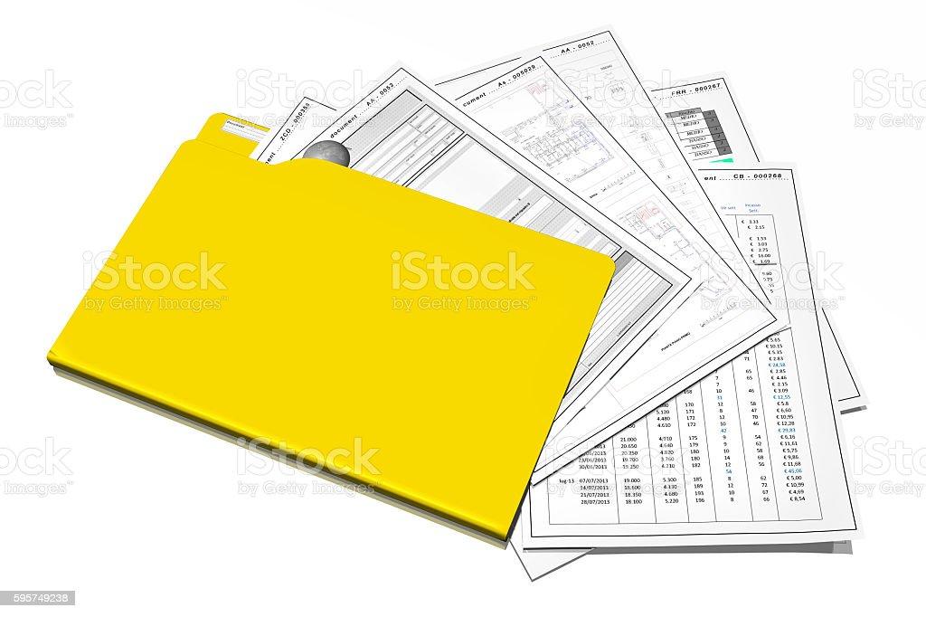 Archive documents folder stock photo