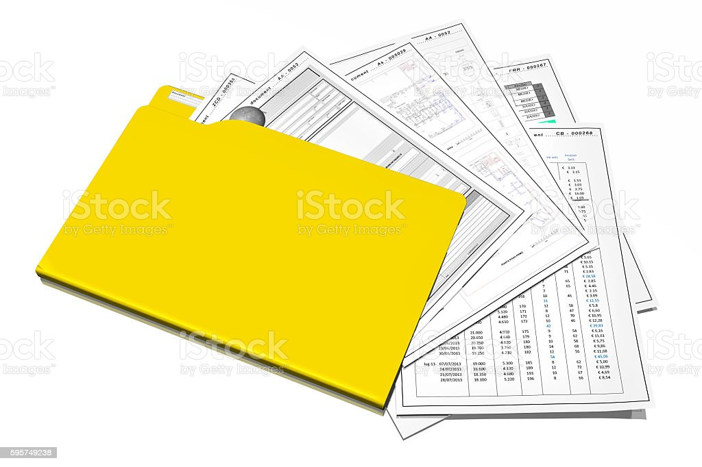 Archive documents folder stock photo