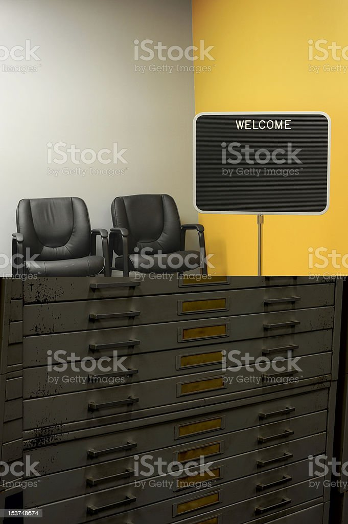 Archive drawers stock photo