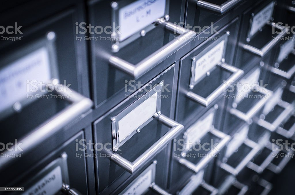 Archiv Schubladen royalty-free stock photo