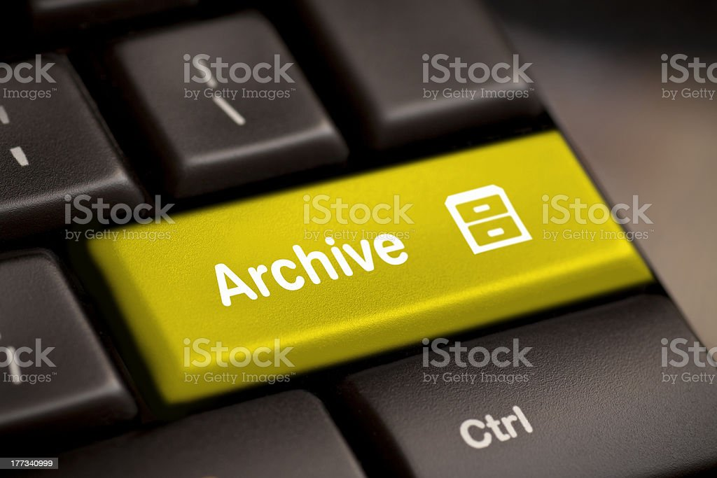 archive enter key stock photo