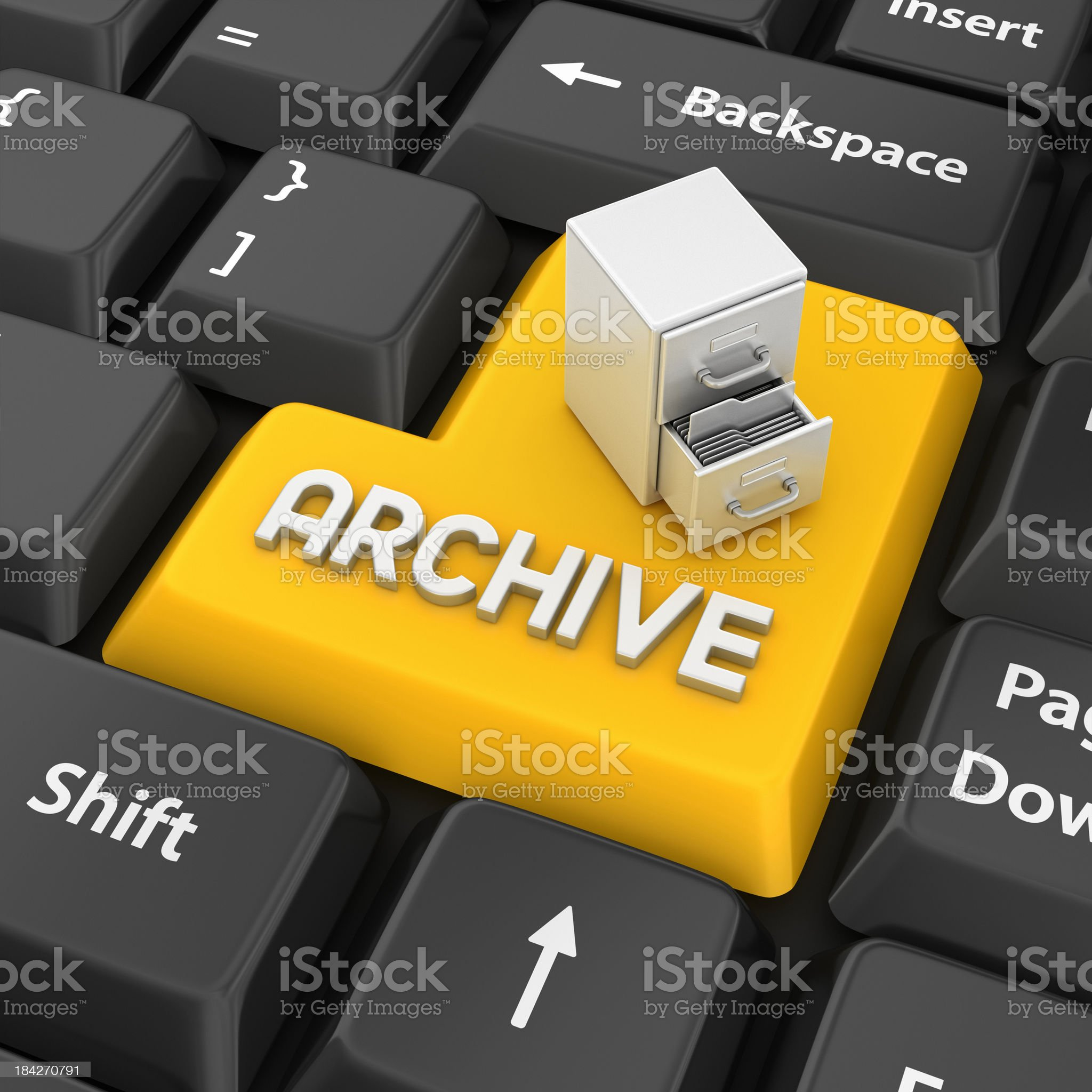 archive enter key royalty-free stock photo