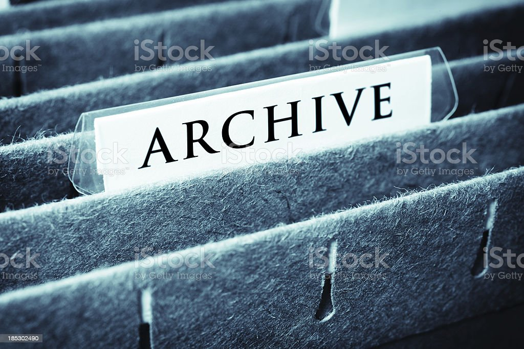 Archive File royalty-free stock photo