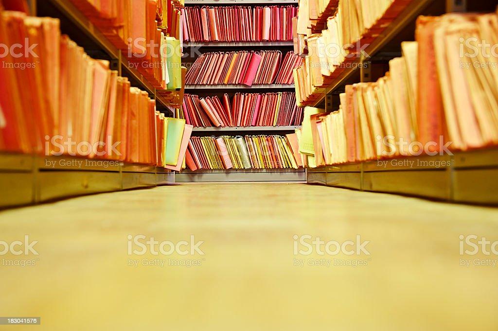 Archive floor stock photo