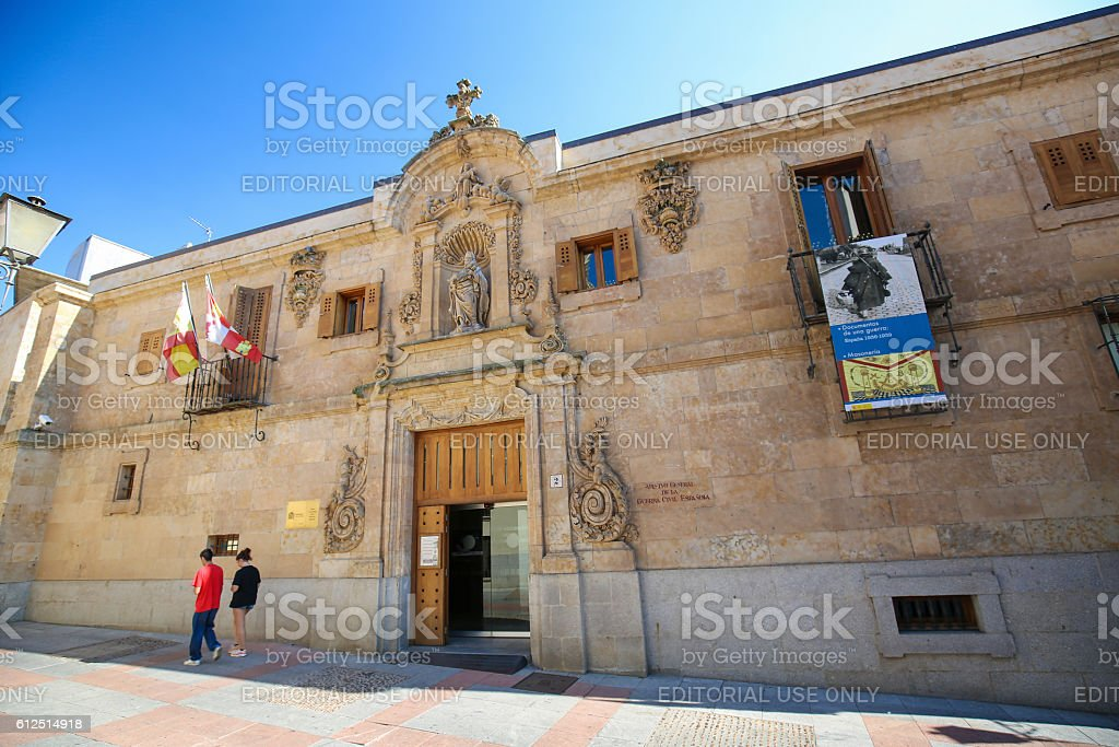Archive of the Spanish Civil War in Salamanca stock photo