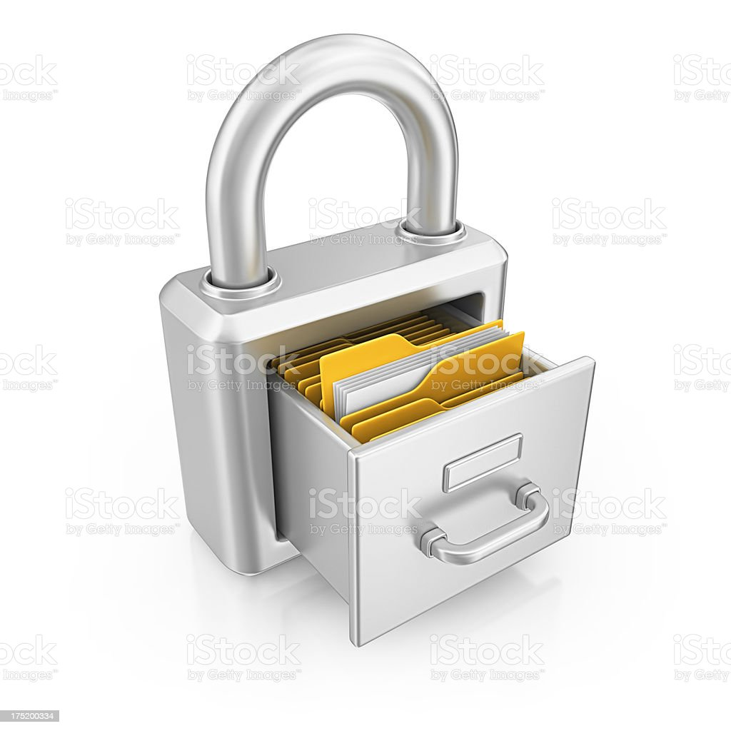 archive padlock stock photo