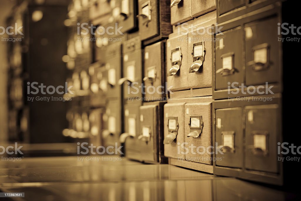Archive royalty-free stock photo