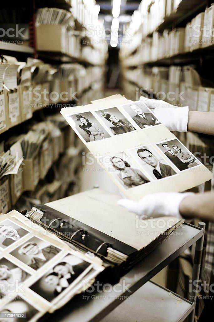Archived photograph album. stock photo