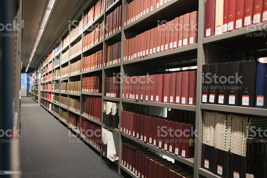 Archives / library royalty-free stock photo