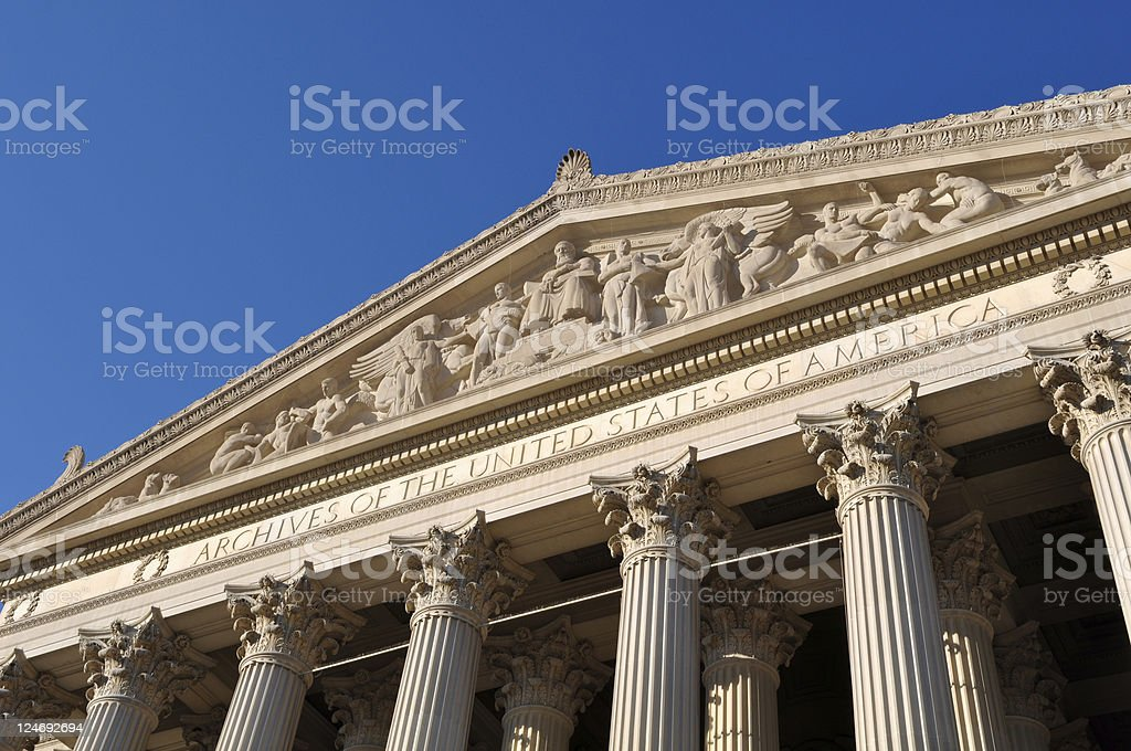 Archives of the United States Building royalty-free stock photo