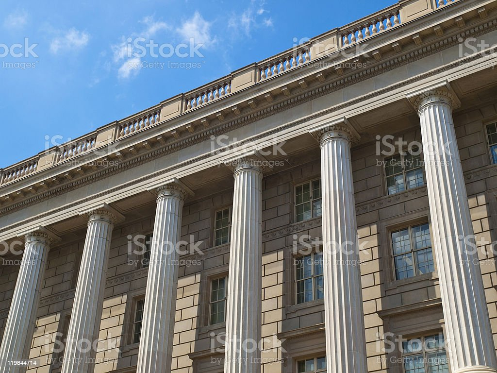 Archives of the USA building detail in Washington DC royalty-free stock photo