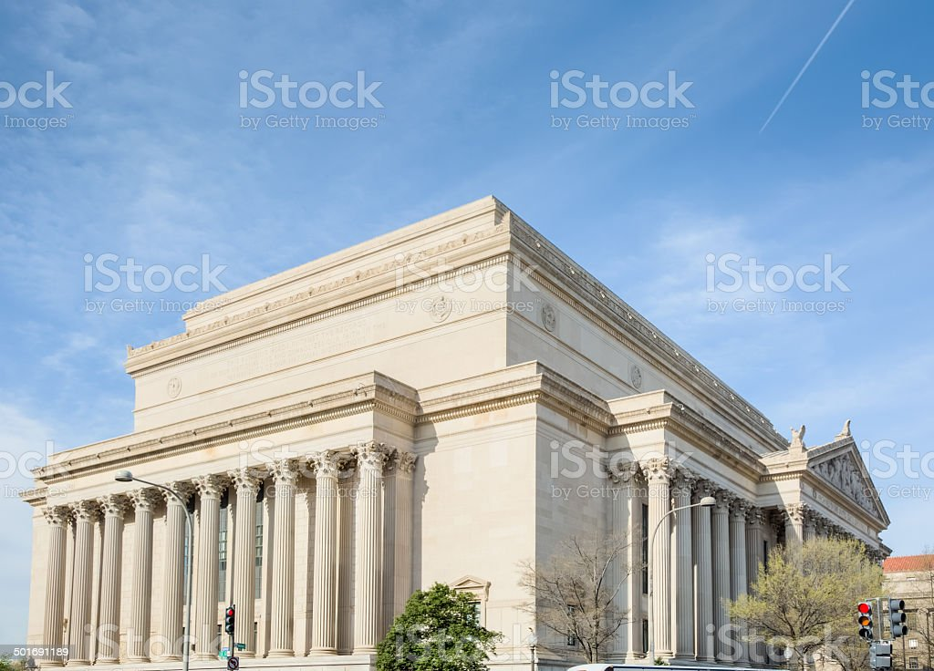 Archives of United States - Pennsylvania and Constitution Avenues royalty-free stock photo