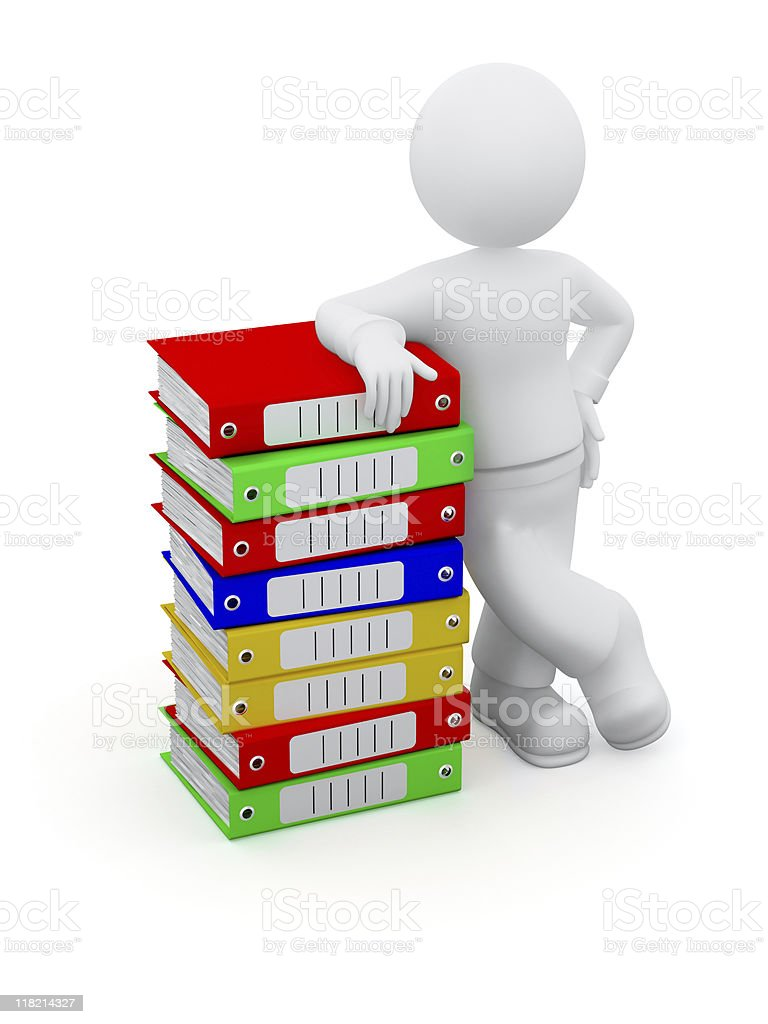 Archivist. royalty-free stock photo