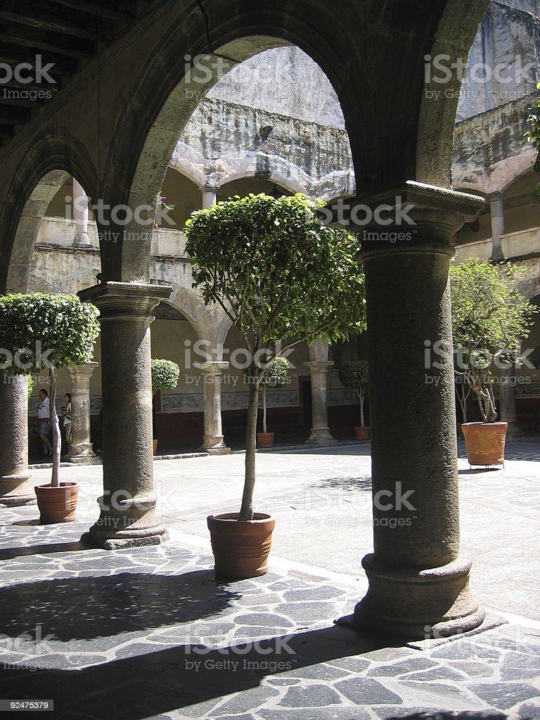 Arch-tree royalty-free stock photo