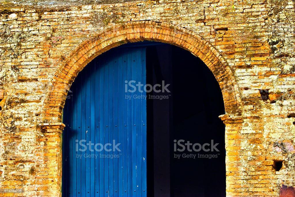 Archway Door stock photo