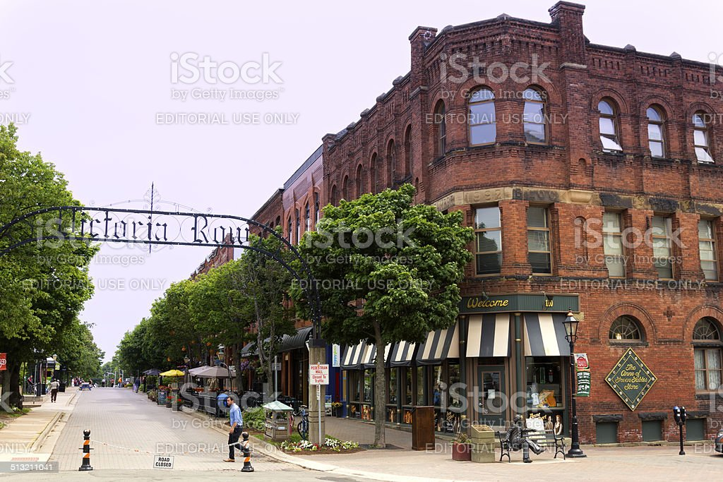 Archway entrance to Victoria Row in Charlottetown in Canada stock photo