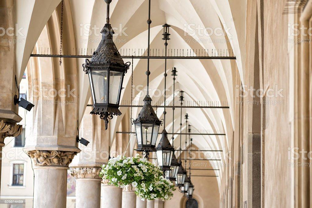 Archway in Krakow stock photo