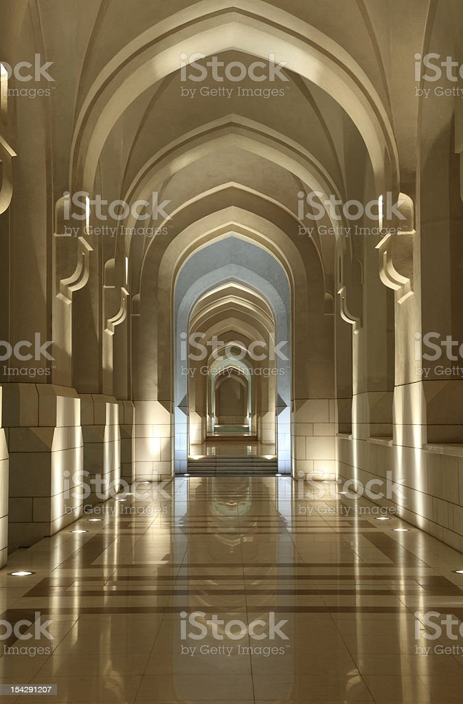 Archway in Muscat, Oman royalty-free stock photo