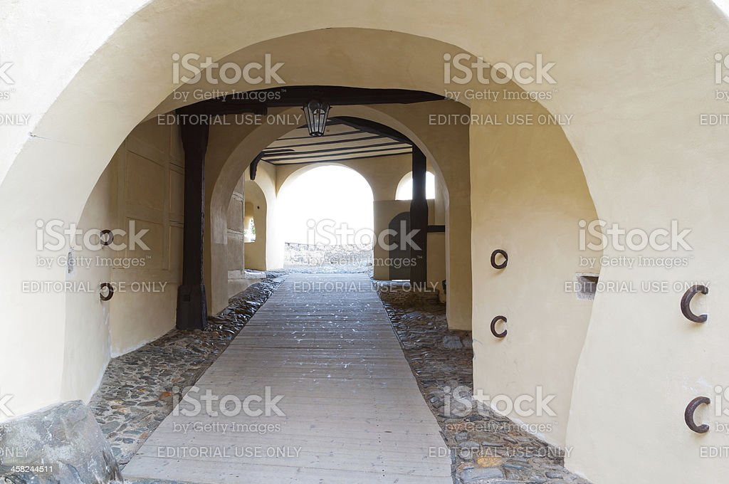 Archway of the castle 'Burgk' at Burgk stock photo