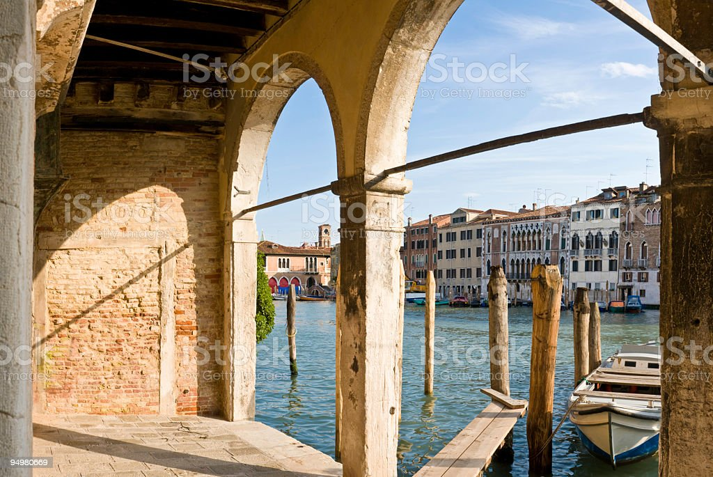 Archway to Venice royalty-free stock photo