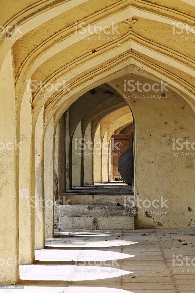 Archways at Qutb Shahi Tombs royalty-free stock photo