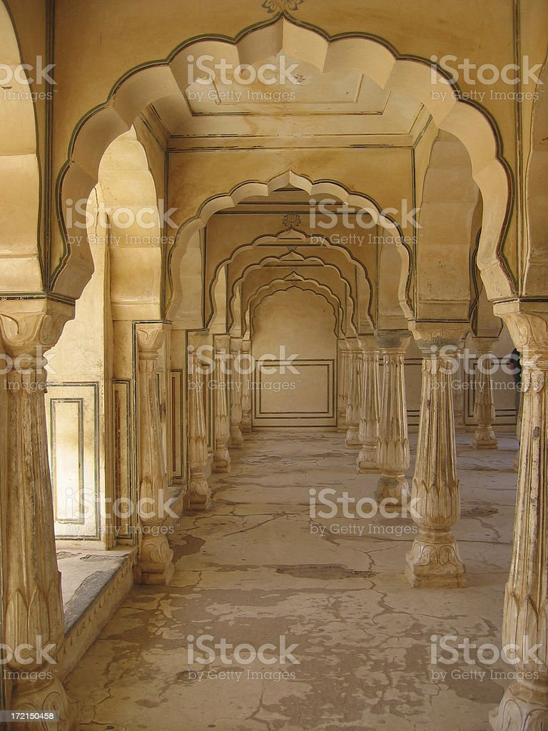 Archways In Amber Palace royalty-free stock photo