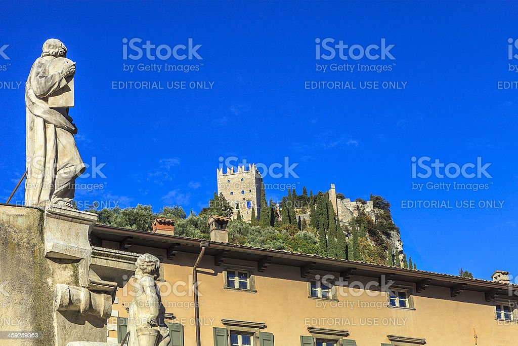Arco and its castle, Italy royalty-free stock photo