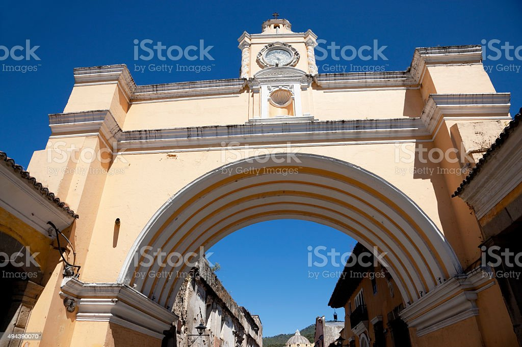 Arco de Santa Catalina in Antigua, Guatemala stock photo