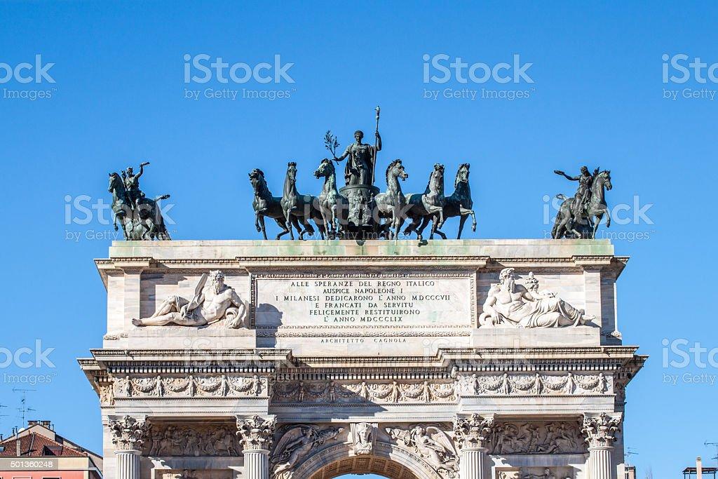 Arco della Pace arch stock photo