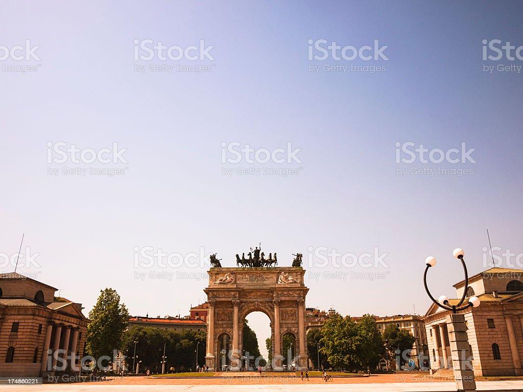 Arco della Pace in Milan stock photo