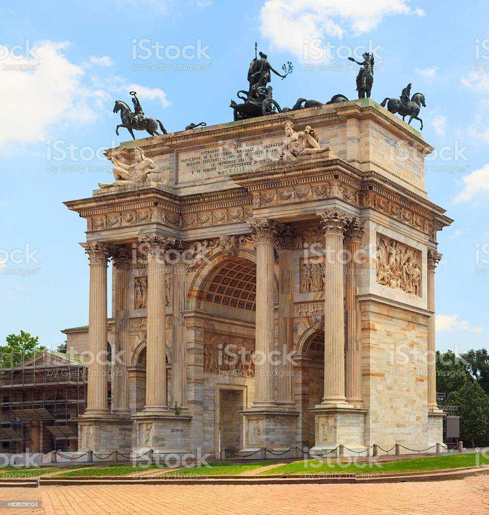 Arco della Pace, Milan stock photo