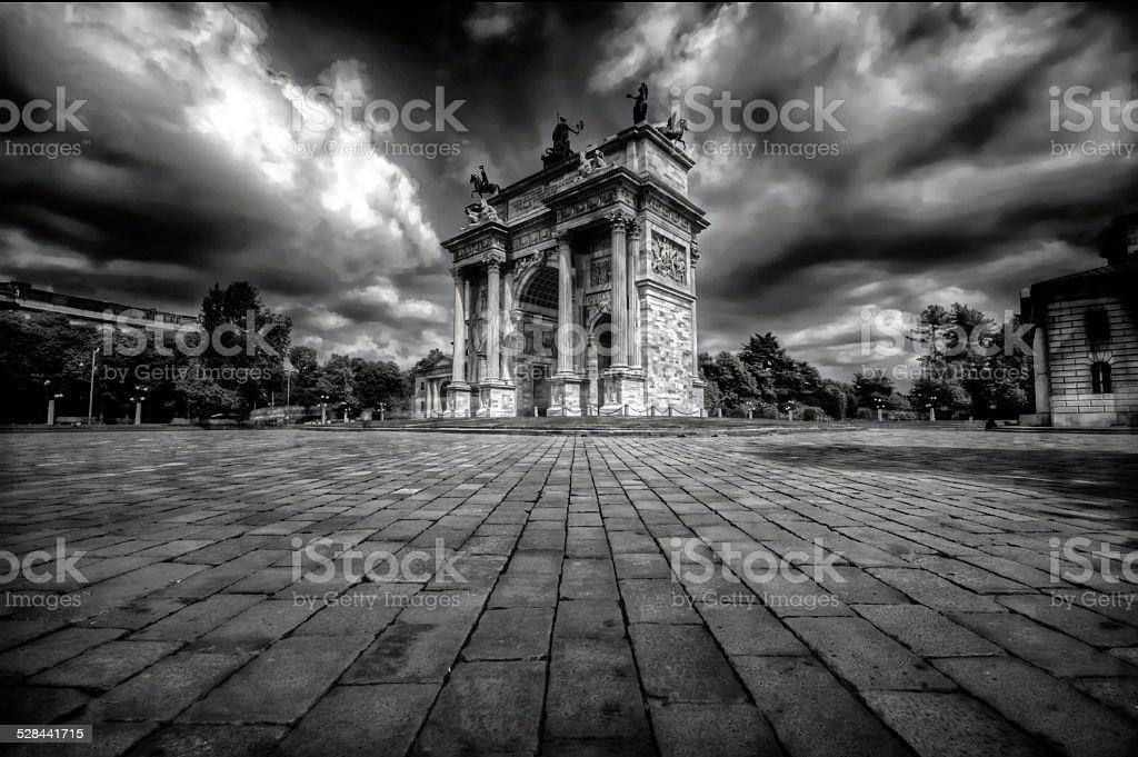 Arco della Pace - Milan stock photo