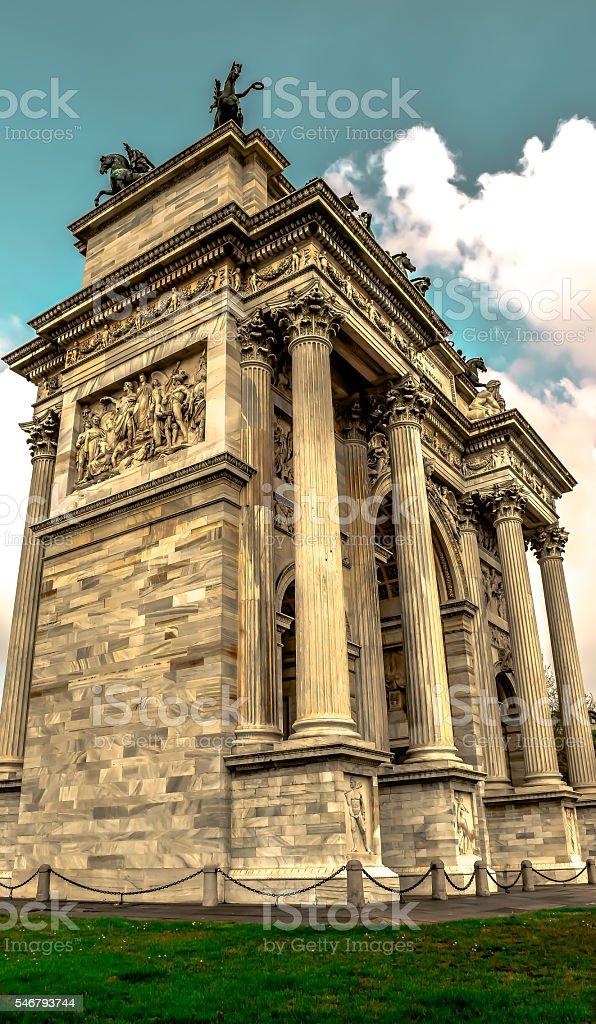 Arco Della Pace stock photo