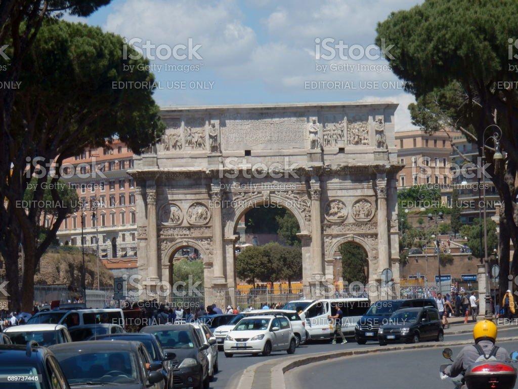 Arco di Costantino da via San Gregorio stock photo
