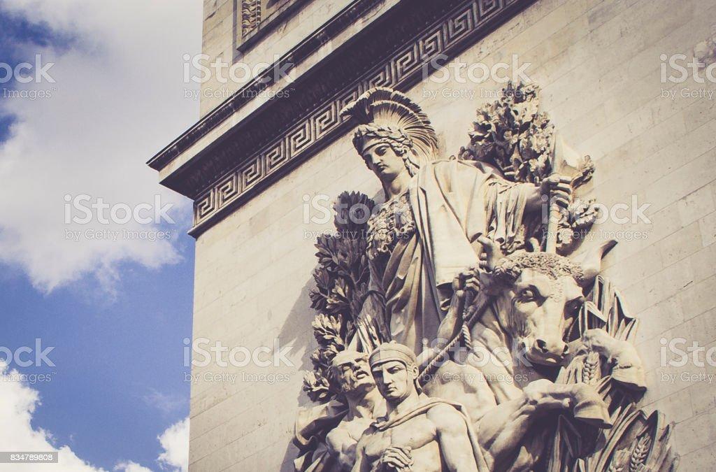 Arco do Triunfo, Paris - França. Setembro 2017 stock photo