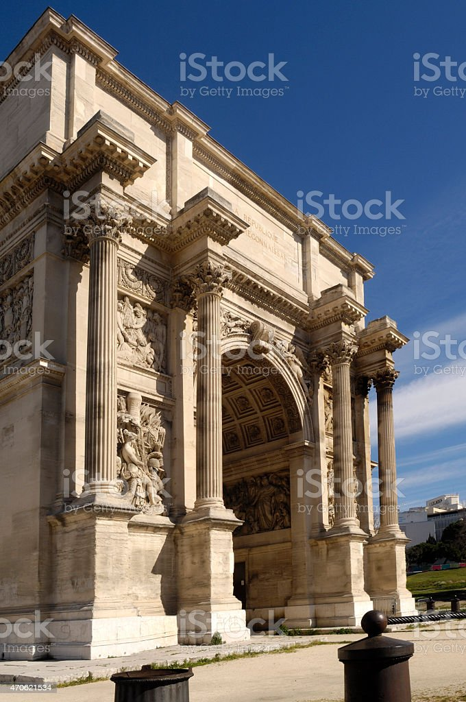 Arco, Marseilla, France stock photo
