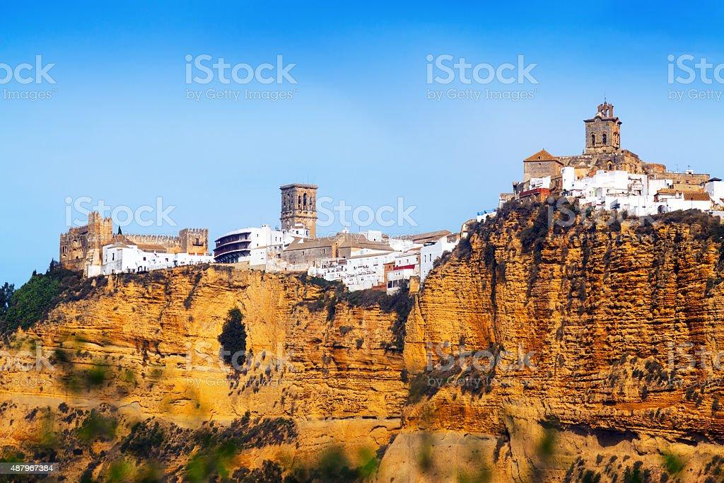 Arcos de la Frontera is a town in Cadiz stock photo