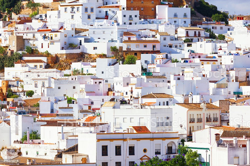Arcos de la Frontera, tipycal Andalusian white town stock photo