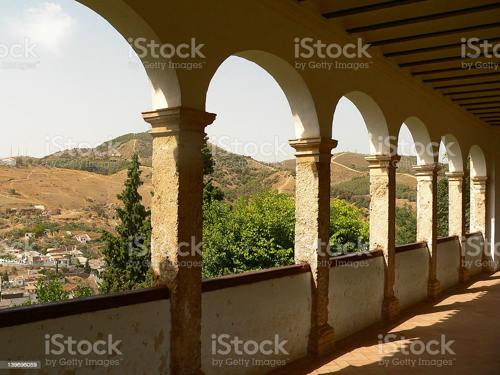 Arcs of Alhambra stock photo