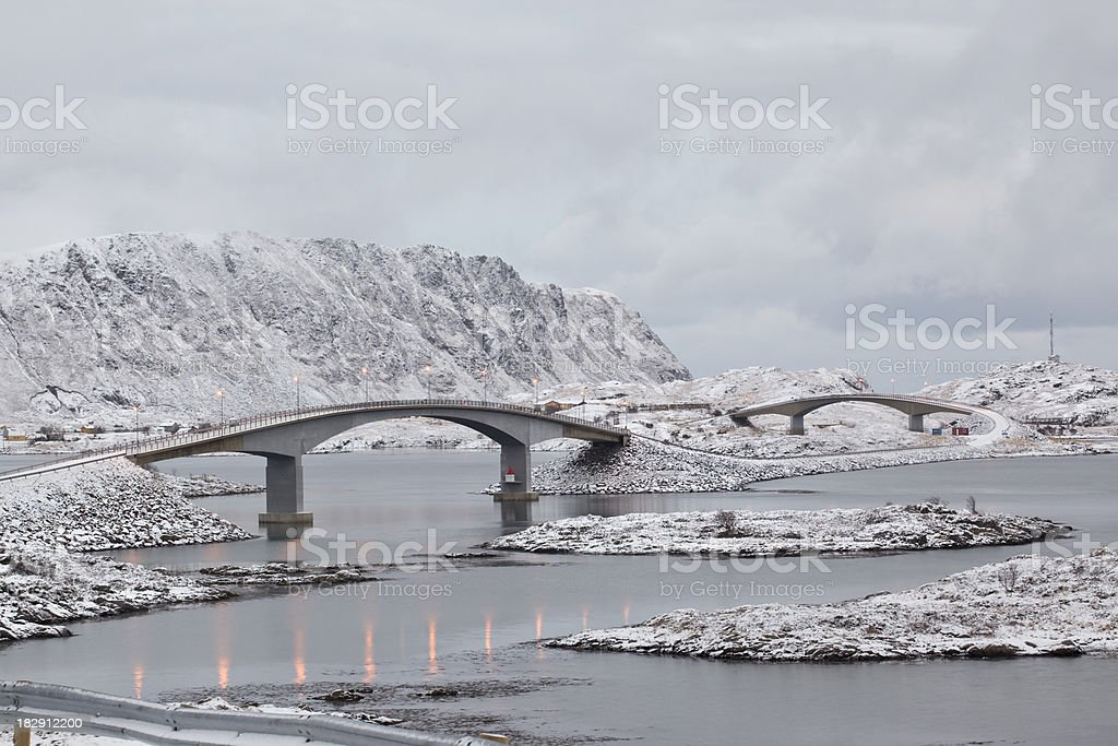 Arctic Bridges stock photo
