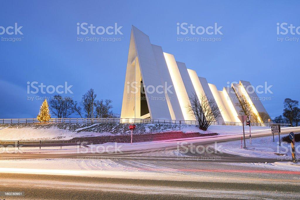 Arctic Cathedral Tromso Norway stock photo