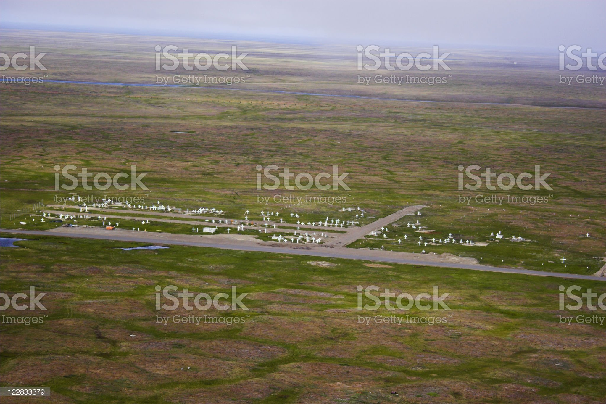 Arctic Cemetery royalty-free stock photo